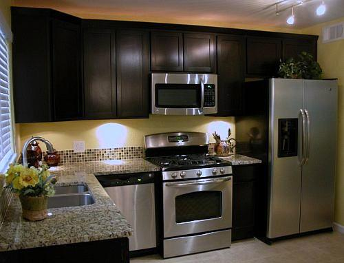 The denver kitchen company fine kitchen design for Black stained kitchen cabinets